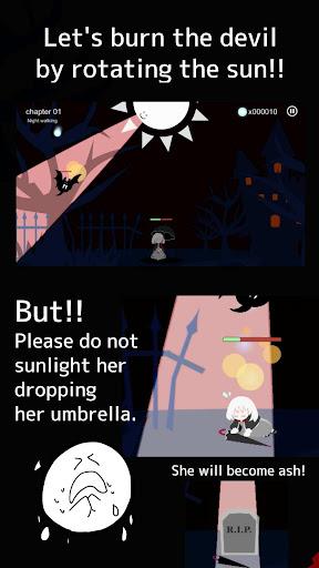 Girl x Sun - Terasene - Tower defence & Novel game apktram screenshots 3