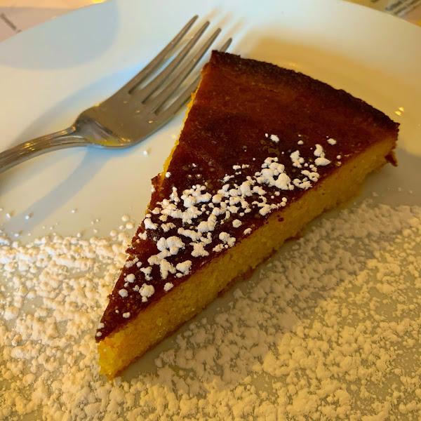 Almond cake with Grand Marnier sauce
