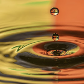 A drop of colour by Barry Smith - Abstract Water Drops & Splashes ( round, abstract, water, colors, water drops )