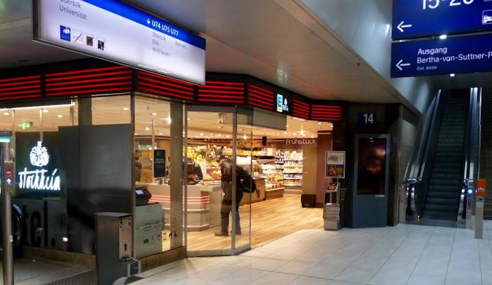 EDEKA im Düsseldorfer Hauptbahnhof.