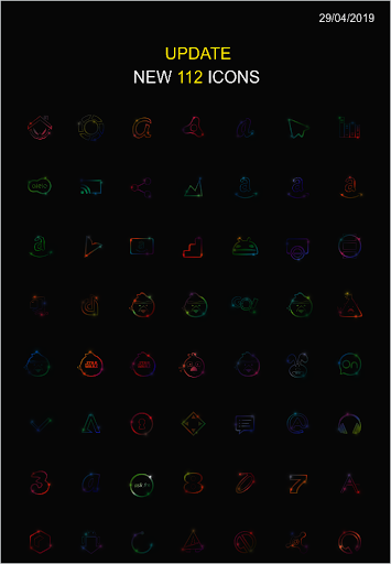 color stars theme & iconpack screenshot 1