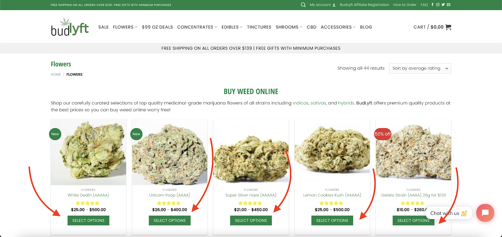 Buy Weed Online - Select Options
