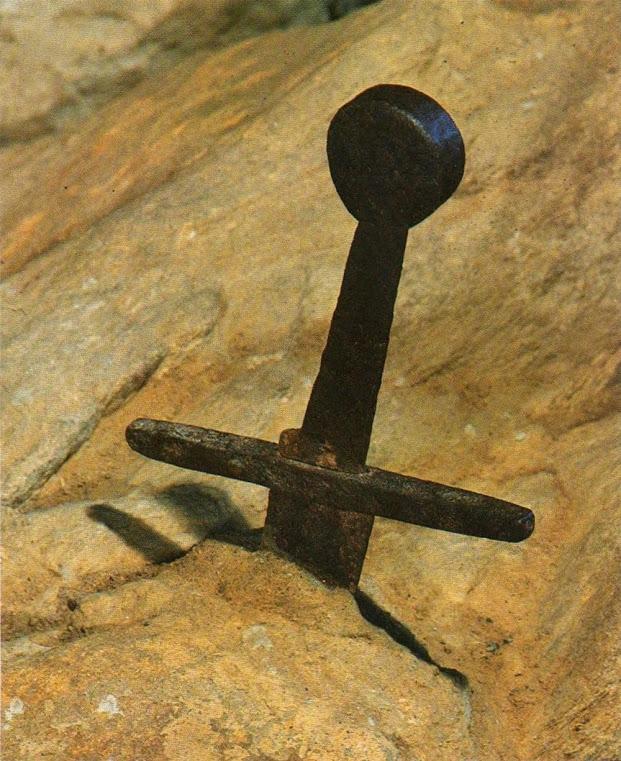A espada legendária na pedra de São Galgano