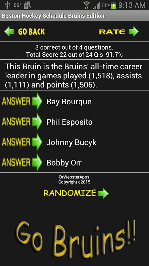 Schedule Boston Bruins Fans- screenshot