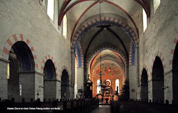 """Photo: Marienkloster Zinna im Kreis Teltow Flämig südlich von Berlin  Im 12. Jahrhundert siedelten sich unter Albrecht dem Bären, Markgraf von Brandenburg, die Flamen aus dem heutigen Belgien und den Niederlanden an der Havel an. In dieser Zeit entstand auch das Kloster von Brüdern aus dem Mutterkloster Cîteaux aus der Region Burgund bei Dijon. Zisterzienser gründeten das Kloster Zinna im Jahre 1170.  """"AVE MARIA GRATIA PLENA DOMINUS TECUM BENEDICTA TU IN MULIERIBUS ET BENEDICTUS FRUCTUS VENTRIS TUI""""   Bodenfliesen: Gegrüßet seist Du, Maria, voll der Gnade. Der Herr ist mit Dir. Du bist gebenedeit unter den Frauen, und gebenedeit ist die Frucht Deines Leibes. (Evangelium des Lukas 1,28)   http://jennus.beepworld.de/rienau.htm"""