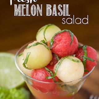 Fresh Melon Basil Salad.