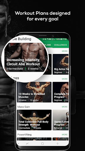 Fitvate - Home & Gym Workout Trainer Fitness Plans Apk 2