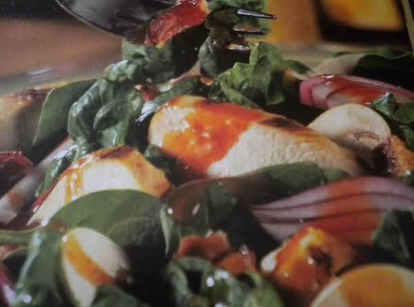 Grilled Chicken Spinach Salad