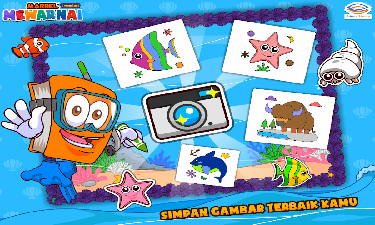 Download Marbel Mewarnai Hewan Laut Free For Android