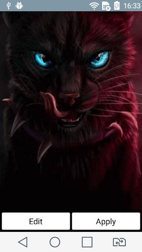 Predatory cat live wallpaper
