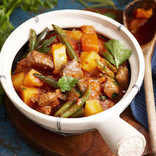 Vegetable and Lamb Curry.