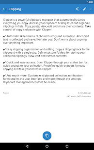 Clipper - Clipboard Manager Screenshot