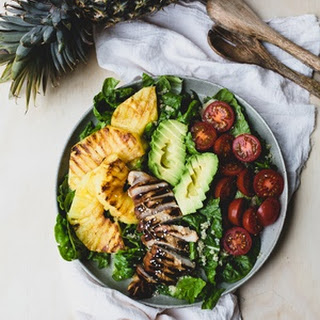 Teriyaki Chicken and Grilled Pineapple Salad Recipe