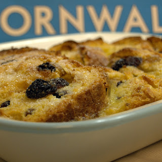 SAFFRON BUN BREAD AND BUTTER PUDDING