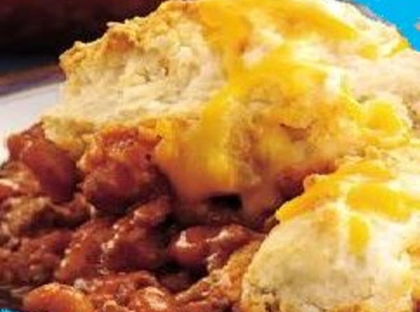 Beefy Bbq Beans With Biscuits Recipe