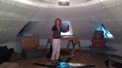 Photo: Inside a mock up of the CSS Virginia ironclad ship. Mistakenly called the Merrimack.