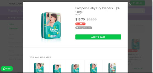 The same Pampers as sold in Family Market