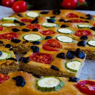 Zucchini and Tomato Focaccia Bread.