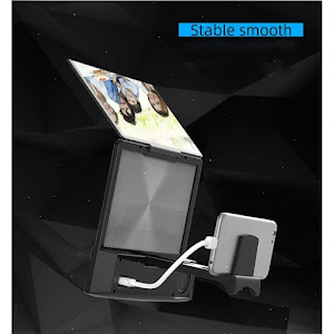Ecran amplificator imagine telefon 3D, cu suport, HD, boxa, 8 inch