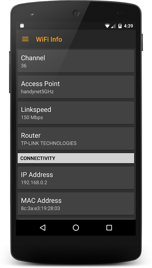 WiFi Signal- screenshot