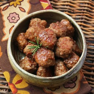 Bourbon & Cider Glazed Turkey Meatballs