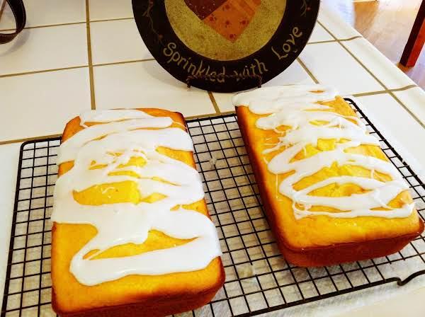Iced Lemon Loaf Pound Cake Recipe