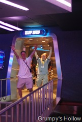 George and Andy Taylor leaving Space Ship Earth