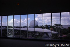 View out of VIP Lounge of EPCOT