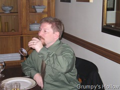 Grumpwurst Enjoying his glass of Champagne (or Sparkling Wine)