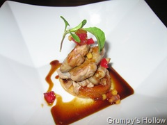Roasted Quail with Georgia Peach Tart with Mostardadi Cremona