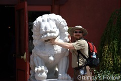 Grumpy with Temple Lion