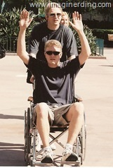 Disney Geeks goofing in Wheelchair