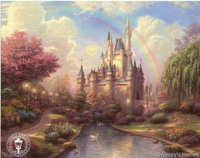 A New Day at the Cinderella Castle (Thomas Kinkade)