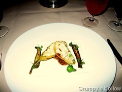 Tempura Crab Stuffed Squash Blossom with Violette Moustarde