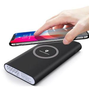 Baterie externa cu capacitate 10000 mAh wireless QI