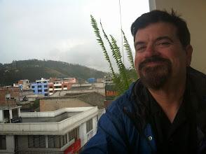 Photo: Brian enjoys a nice lunch in Otavalo.