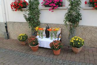 Photo: Fejring af Hildegard - blomster mm på ruten