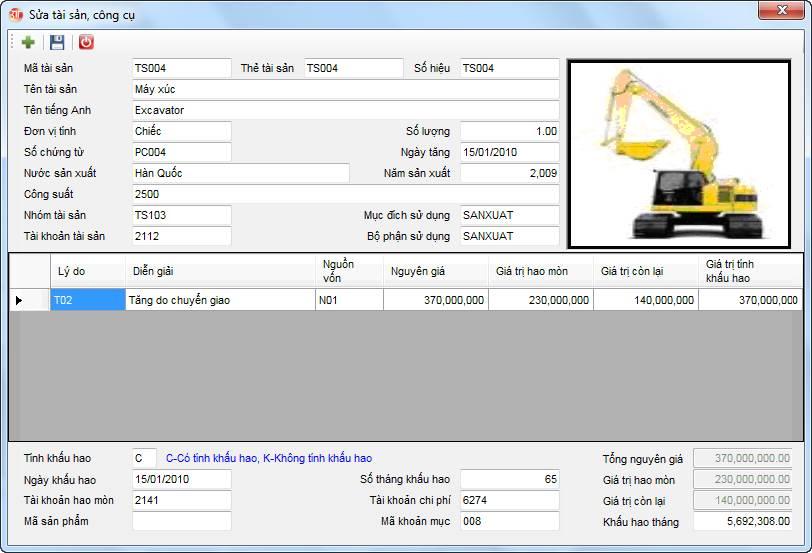 Đăng ký tài sản phần mềm kế toán 3tsoft