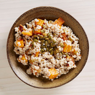 Morning Barley with Squash, Date, and Lemon Compote