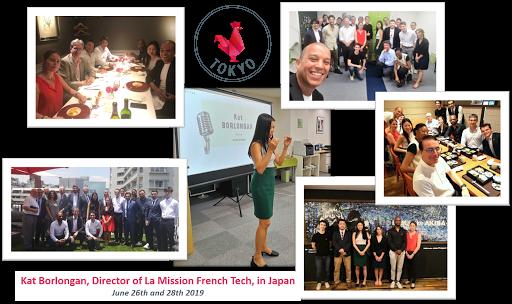 La French Tech's Director Kat Borlogan's visit in Tokyo