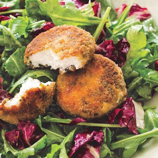Salad with Herbed Baked Goat Cheese and Vinaigrette Recipe