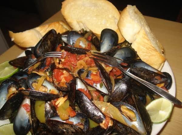Mussels Latino Style/mejillones Al Latino Recipe