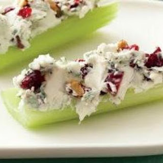 Bacon-Cranberry-Walnut Stuffed Celery.