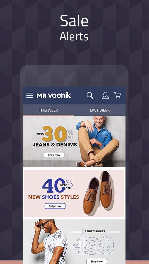 Mr Voonik -Online Shopping Men- screenshot