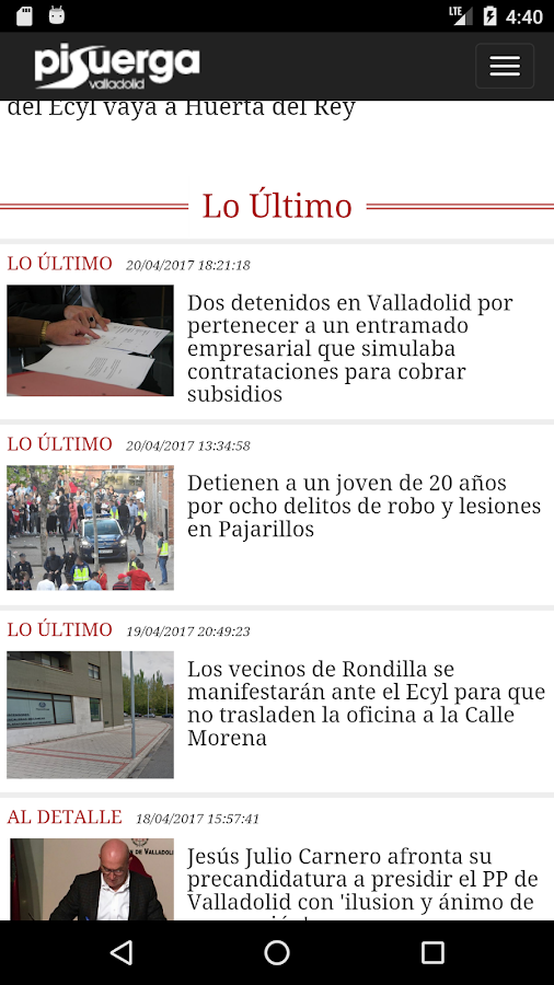 Pisuerga Noticias- screenshot