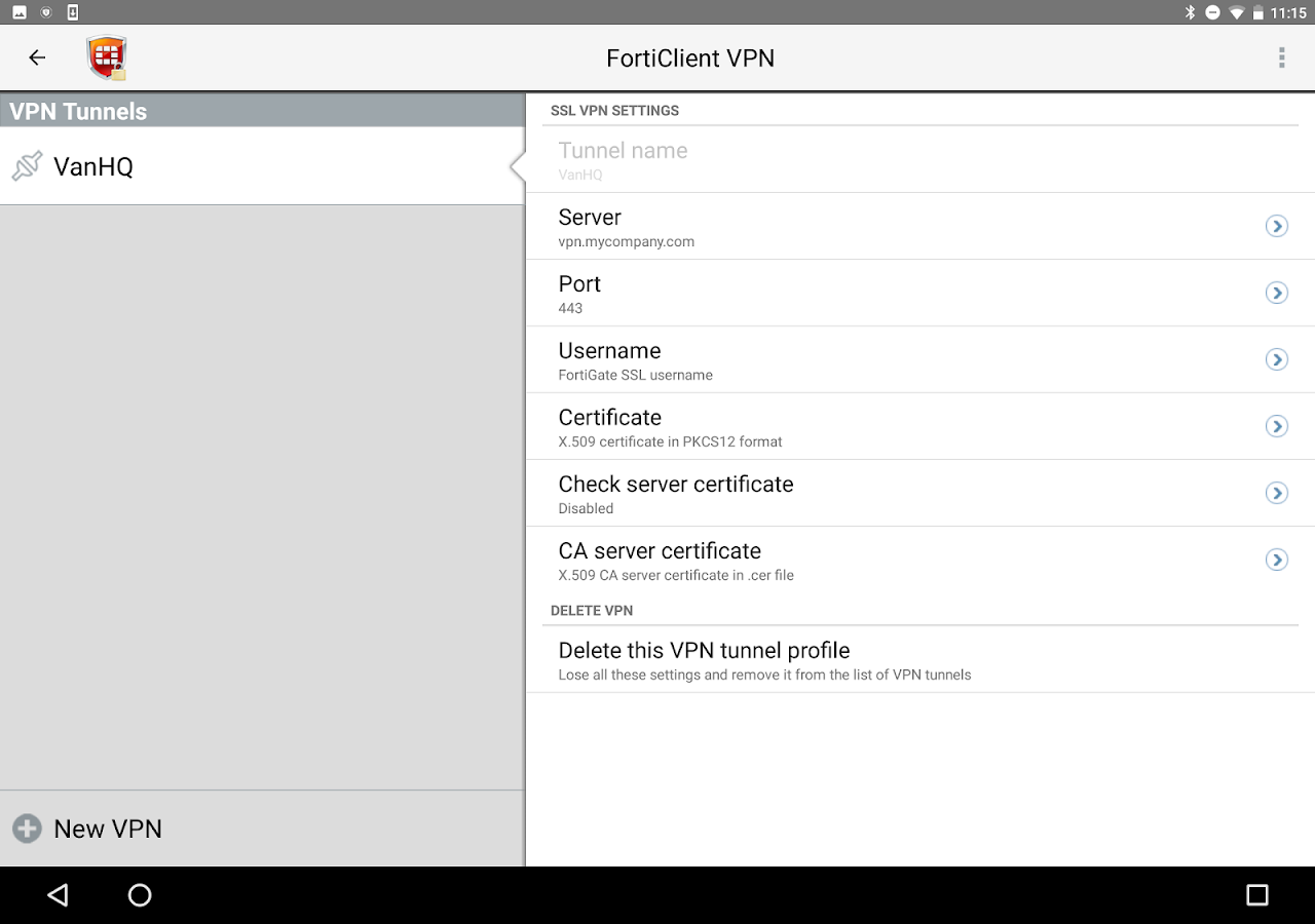 Forticlient vpn android apps on google play forticlient vpn screenshot xflitez Images