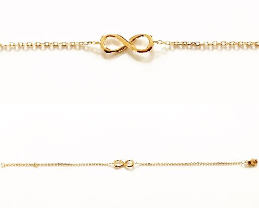 Bracelet infini en plaqué or