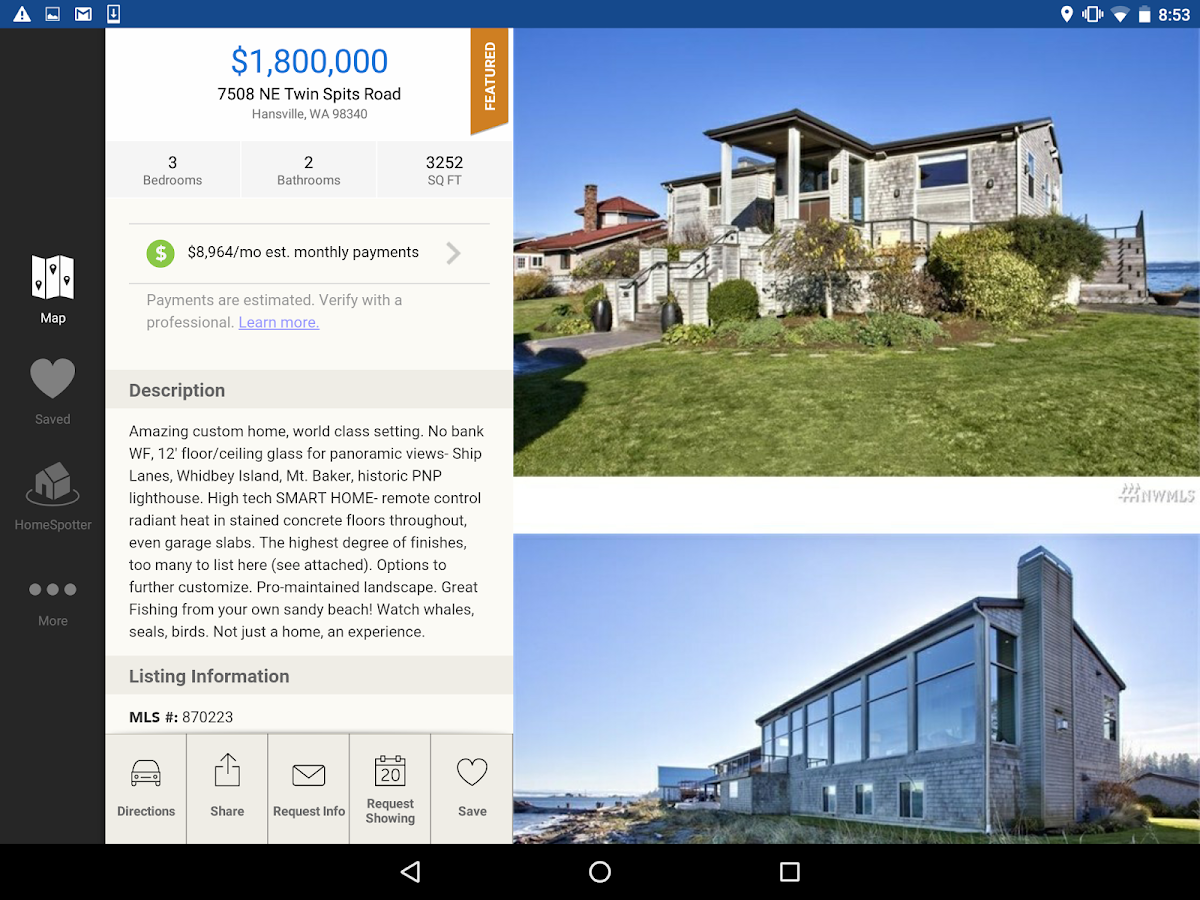 WA Homes - TheMLSonline.com- screenshot