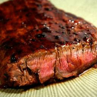 Bourbon and Brown Sugar Flank Steak.