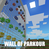 Parkour wall map for Minecraft